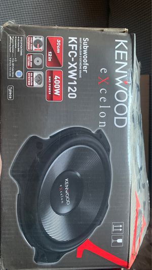 "Kenwood eXcelon 12"" subwoofer for Sale in Commerce City, CO"