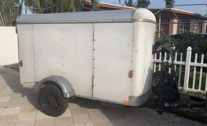 6x8 enclosed utility trailer with extra tire for Sale in Pompano Beach, FL