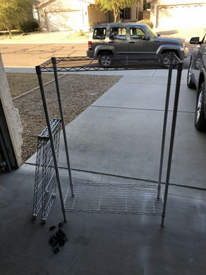 4 shelve metal rack. Storage shelves. for Sale in Tempe, AZ