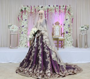 Purple and gold wedding dress for Sale in Elk Grove, CA