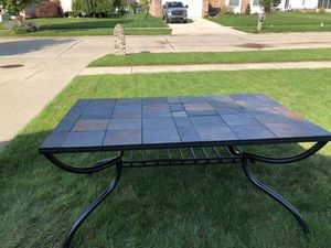 SLATE TOP TABLE W/6 CHAIRS for Sale in New Baltimore, MI