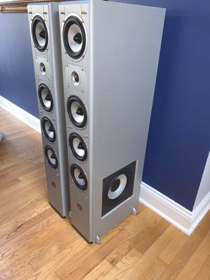Digital Audio 2002 SL-1100 Cinema Series III 3-Way Front Floorstanding Tower Home Theater Surround Sound Speakers. No Covers. for Sale in Darien, IL