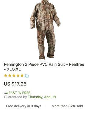 Remington Realtree Rainsuit for Sale in Hazlehurst, GA