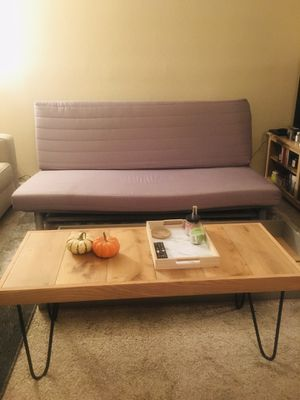IKEA gray futon couch with storage (smoke/pet free) for Sale in Houston, TX