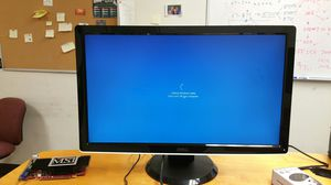 "Dell 24"" LED monitor, with graphics card, wireless keyboard and mouse and all the cables for Sale in Richardson, TX"
