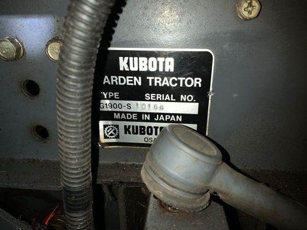 Kubota g1900 Frame