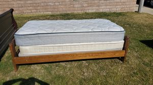 Twin Bunk Beds 2 mattresses and bunk for Sale in Riverside, CA