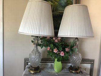 Crystal pair lamps for Sale in Littleton,  CO