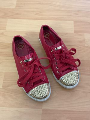 Michael Kors women's sneakers size 7 1/2 red used but in great condition for Sale in Miami Lakes, FL