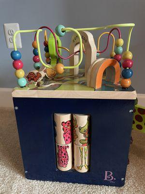 B. Toys Wooden Activity Cube for Sale in Oakton, VA
