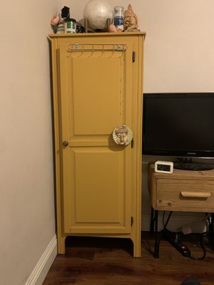 Beautiful mustard yellow cabinet for Sale in Los Angeles, CA
