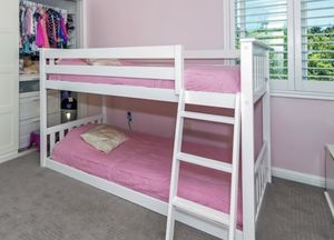 Bunk beds twin white for Sale in Chula Vista, CA