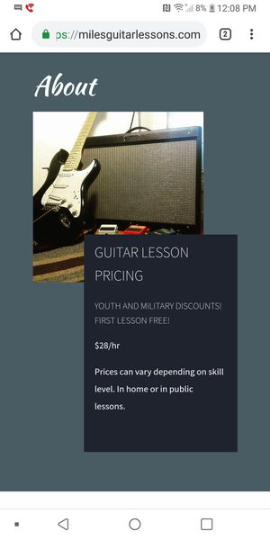 Guitar lessons! First lesson free! for Sale in San Diego, CA