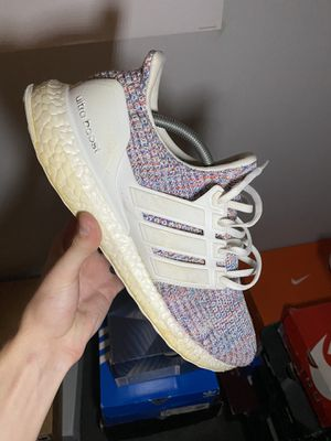Adidas Ultraboost 4.0 White Multi-Color Size 11 for Sale in Indianapolis, IN