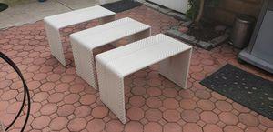 Dedon outdoor wicker furniture set (3 pc) for Sale in North Bergen, NJ