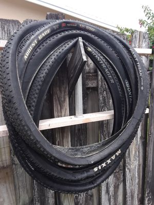 9-used 29 Er mountain bike tires $100 FIRM for ALL for Sale in Deerfield Beach, FL