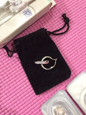 Sterling silver diamond hoop earring for Sale in Philadelphia, PA