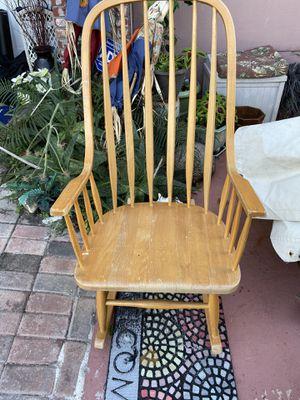 Rockingchair wood for Sale in Davie, FL