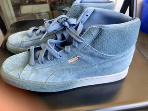 🔥Puma Pink Dolphin x Suede Mid-Top Classic Blue Wave Shoes Mens size 8( 362334-01)🔥 for Sale in Phoenix, AZ