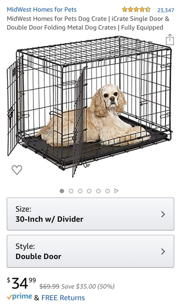 Brand New Unboxed 30' Inch Medium Crate Kennel