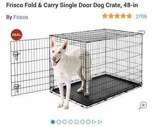 Xl Dog crate . Single door . Never used for Sale in Tampa, FL