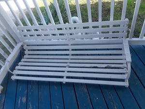 Porch swing Works nicely but can use to new boards for Sale in Lemont, IL