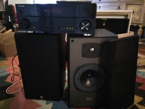 Celestion DL8 speakers and pioneer receiver for Sale in Pawtucket, RI