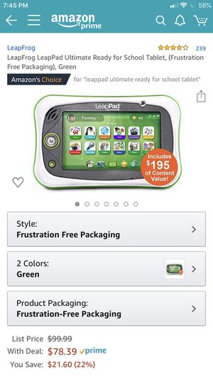 LeapFrog LeapPad Ready for School Tablet for Sale in Sterling Heights, MI