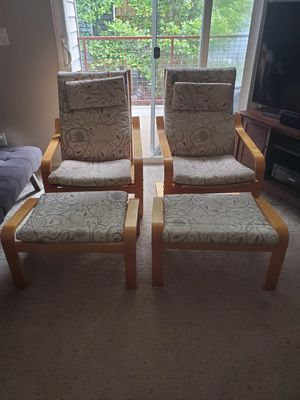 Ikea paong with stools for Sale in Hayward, CA