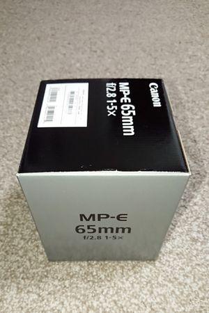 Canon MP-E65mm f/2.8 1-5x macro lens - BRAND NEW!!! for Sale in Frisco, TX