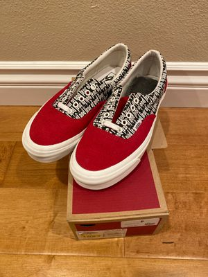 Fear of God Vans red corduroy size 10 for Sale in La Palma, CA