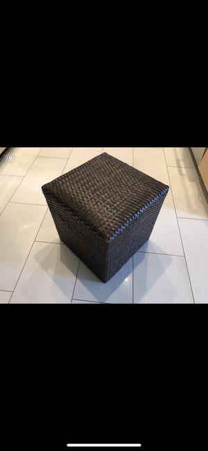 Dark brown wicker foot stool for Sale in Danville, CA