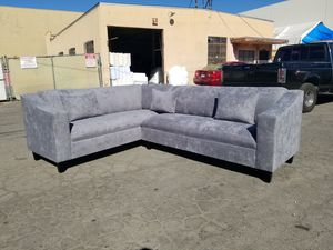 NEW 7X9FT GIBSON GRAPHITE FABRIC SECTIONAL COUCHES for Sale in Fresno, CA