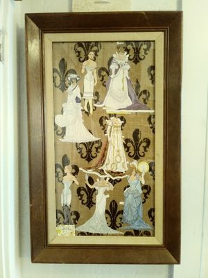 Antique Paper Doll & Gown Picture for Sale in Fresno, CA