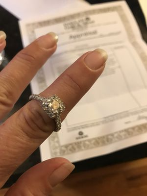 Diamond engagement ring appraised at $4850 for Sale in Dallas, TX