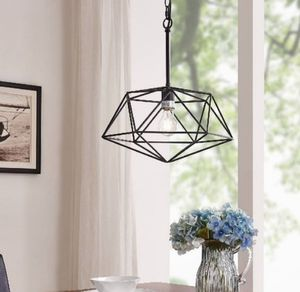 """Brand new Geometric Pendant Lamp, 17-1/2""""H, Black for Sale in Fort Worth, TX"""