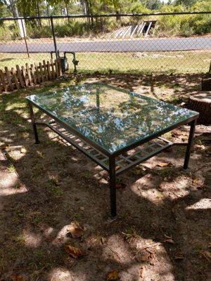 "Black iron, tempered glass. Outdoors or indoor. 46""x30"" for Sale in Bullard, TX"