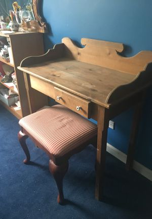 Small desk with drawer- all wood for Sale in Riverwoods, IL