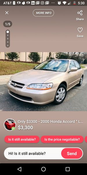 Honda Accord '00 for Sale in Silver Spring, MD