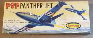 F9F Panther Jet Aurora model 1/4 scale for Sale for sale  Three Rivers, MI