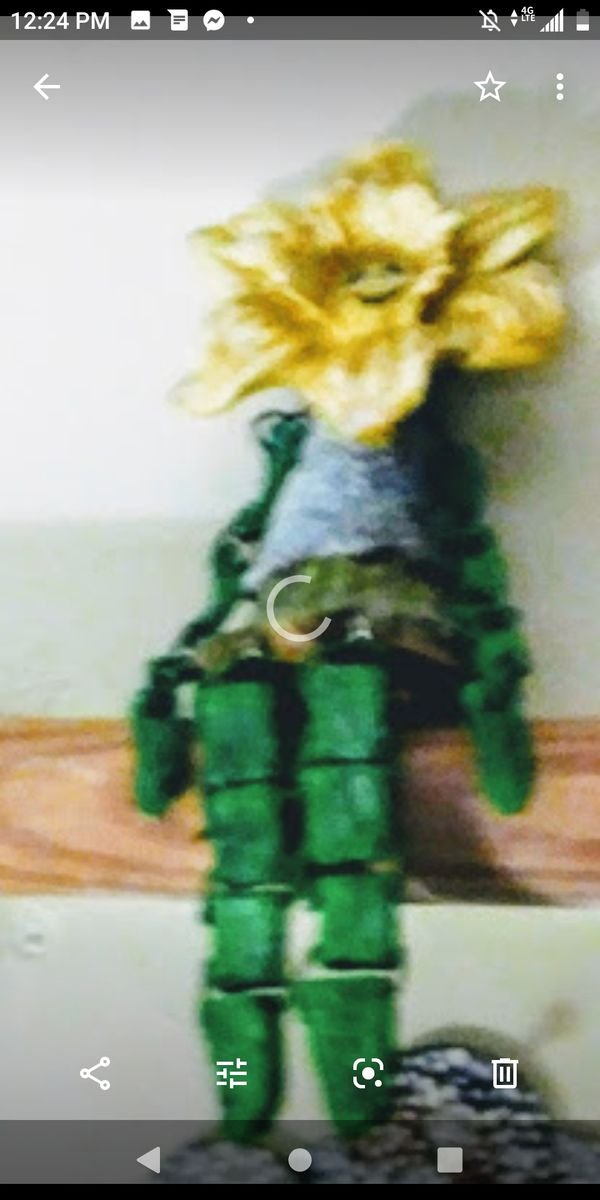 "Flower ceramic puppet 12"" fugurine"