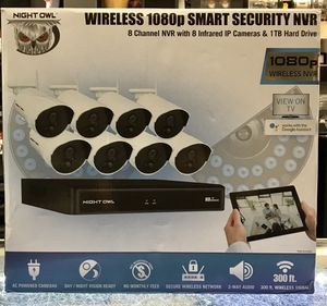 Night Owl Wireless 1080p Smart Security NVR Security Cameras for Sale in Chicago, IL
