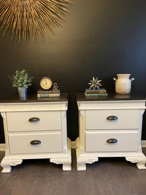 Solid wood matching side tables for Sale in Fuquay-Varina, NC