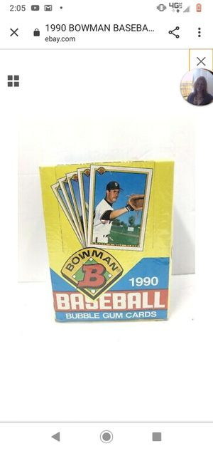 Five Boxs 1990 Bowman baseball cards wax packs for Sale in Bothell, WA