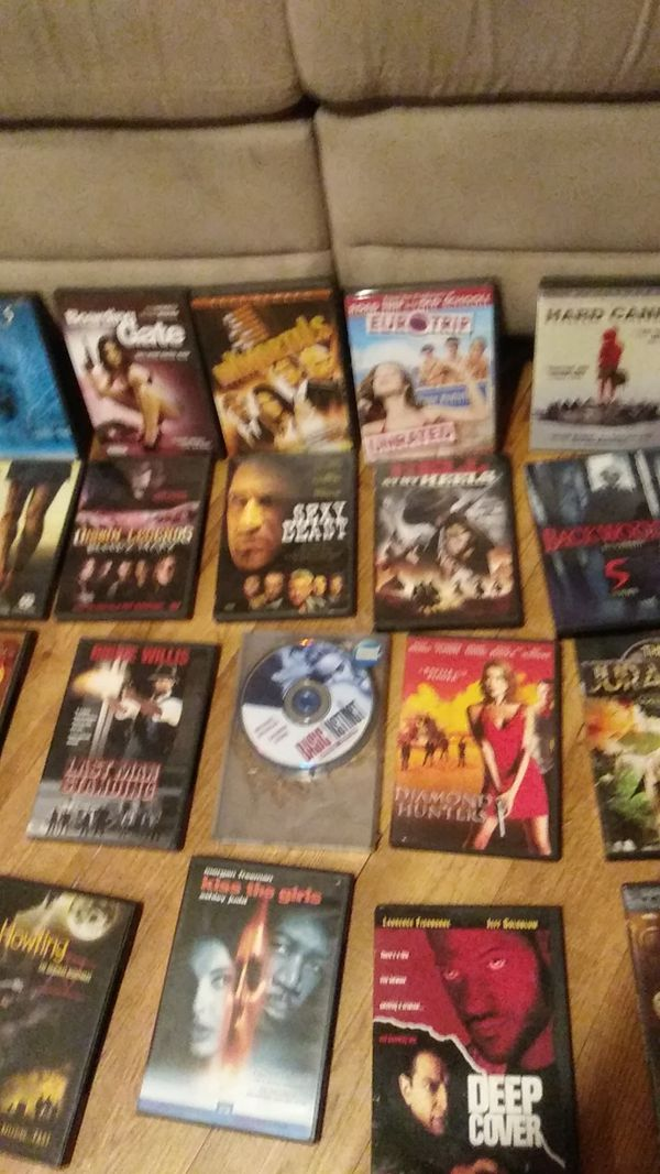 100sof DVDs thriller,horror,comedy,drama,just about anything you could want