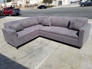 NEW 7X9FT CHARCOAL MICROFIBER SECTIONAL COUCHES for Sale in Lake Elsinore, CA