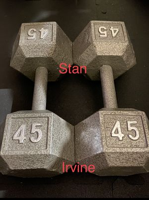 45 lbs dumbbells set for Sale in Irvine, CA