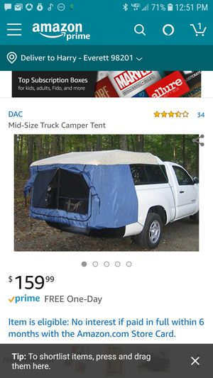 DAC truck bed tent- mid size for Sale in Everett, WA