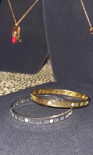 Stainless steel bracelets for women very high quality silver and gold for Sale in Bridgeview, IL