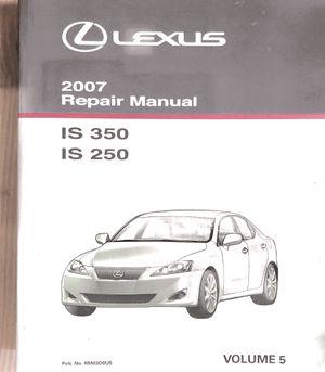 2007 Lexus IS 350/250 Repair Manual Vol 5 for Sale in Rosemead, CA